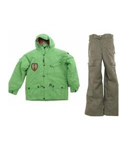 Sessions Magneto Jacket Lime w/ Burton Cargo Smalls Pants Burlap