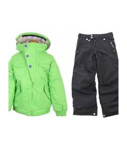 Burton Lavish Bomber Jacket Sonic Green w/ Sessions Star Snow Pants Black Magic
