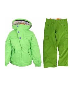 Burton Lavish Bomber Jacket Sonic Green w/ Foursquare Lil Fuji Pants Bamboo 