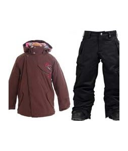 Burton Perception Jacket Chestnut w/ Burton Elite Cargo Snow Pants True Black