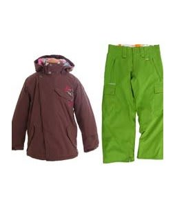 Burton Perception Jacket Chestnut w/ Foursquare Lil Fuji Pants Bamboo