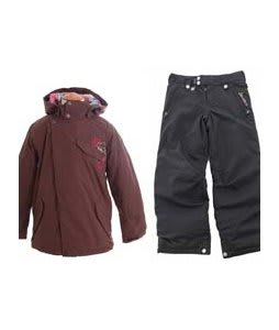 Burton Perception Jacket Chestnut w/ Sessions Star Snow Pants Black Magic