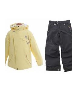 Burton Perception Jacket Banana w/ Sessions Star Snow Pants Black Magic