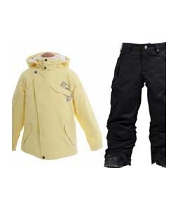 Burton Perception Jacket Banana w/ Burton Elite Cargo Snow Pants True Black