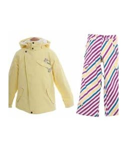 Burton Perception Jacket Banana w/ Burton Elite Snow Pants Diag Stripe Banana