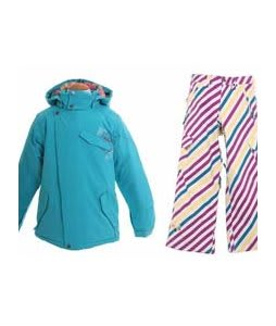 Burton Perception Jacket Aqua w/ Burton Elite Snow Pants Diag Stripe Banana