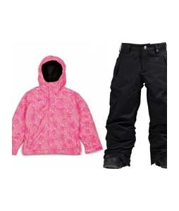 Bonfire Poise Jacket Valentine w/ Burton Elite Cargo Snow Pants True Black