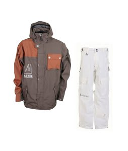 Sessions TJ's Limited Jacket Brown w/ Sessions The Hot Pants Smoke White