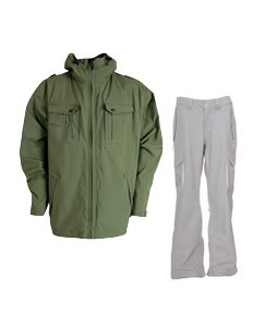 Sessions Valor Jacket Infantry w/ DC Signal Pants White/Monogram