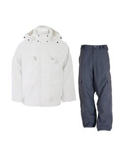 Special Blend Brigade Jacket White Invader w/ Sessions Blitzwing Ski Pants Gunmetal