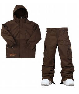 Burton Apollo Jacket Mocha w/ Burton Cargo Snow Pants Mocha