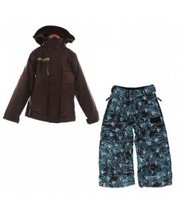 Burton Modem Jacket Mocha w/ Bonfire All Star Snowboard Pant Black