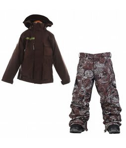 Burton Modem Jacket Mocha w/ Burton Cargo Snow Pants Gunmetal Opti 3D