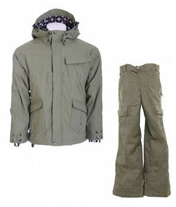 Ride Hemi Youth Jacket Olive w/ Burton Cargo Smalls Pants Burlap