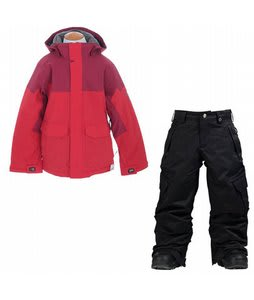 Burton Element Insulated Jacket True Red w/ Burton Elite Cargo Snow Pants True Black
