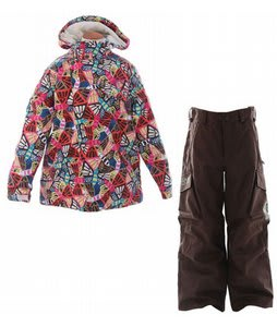 Burton Perception Jacket Butterfly Prnt w/ Burton Cargo Snow Pants Mocha