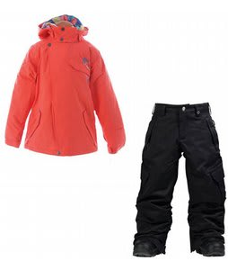 Burton Perception Jacket Hot Coral w/ Burton Elite Cargo Snow Pants True Black