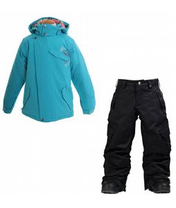 Burton Perception Jacket Aqua w/ Burton Elite Cargo Snow Pants True Black