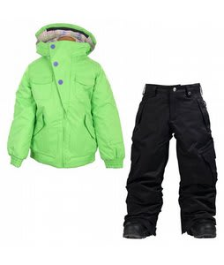 Burton Lavish Bomber Jacket Sonic Green w/ Burton Elite Cargo Snow Pants True Black