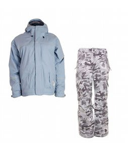 Bonfire Fusion Aura Jacket Ocean w/ Burton Fly Pants Shark Pop Camo