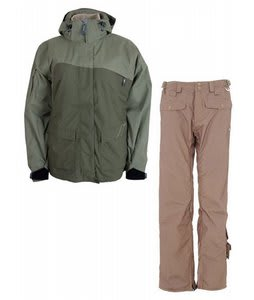 Sessions Siryn 4 in 1 Jacket Drab w/ Foursquare Sammoff Pants Tan Toof