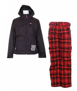 Foursquare Angela Jacket Black w/ Special Blend Scarlet Le Pants Tartan Plaid