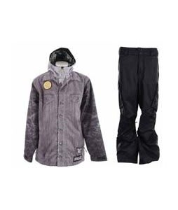 Analog Altar Jacket Lanny Grey w/ Burton Fife Pants True Black