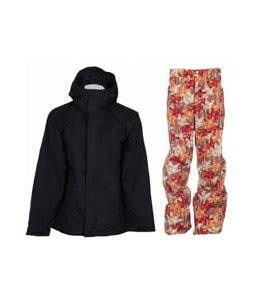 Bonfire Evolution Jacket Black w/ Foursquare Wong Pants Fall Leaves