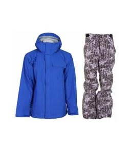 Bonfire Evolution Jacket Sapphire w/ Foursquare Trappe Pants Black Leaves