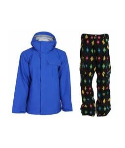 Bonfire Evolution Jacket Sapphire w/ Sessions Gridlock Pants Black Multi Stargyle
