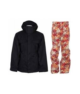 Bonfire Rainier Jacket Black w/ Foursquare Wong Pants Fall Leaves