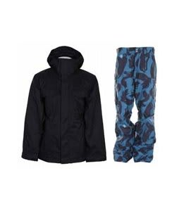 Bonfire Rainier Jacket Black w/ Special Blend C4 Strike Pants Black Brush Pat