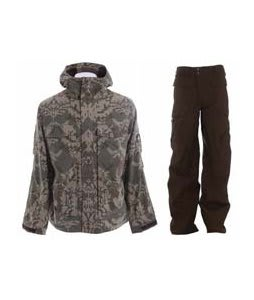 Burton Arctic Jacket Mosaic Hazel w/ Burton Ronin Cargo Pants Mocha