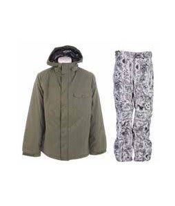 Burton Bad Moon Rising Jacket Beetle w/ Burton Vent Pants Good Trip Print