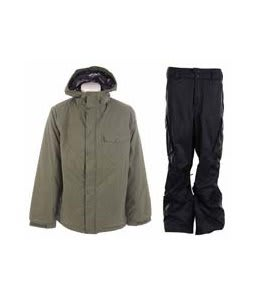 Burton Bad Moon Rising Jacket Beetle w/ Burton Fife Pants True Black
