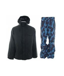 Burton Bad Moon Rising Jacket True Black w/ Special Blend C4 Strike Pants Black Brush Pat