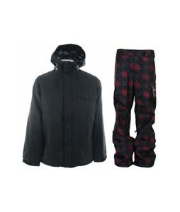 Burton Bad Moon Rising Jacket True Black w/ Burton Poacher Pants True Black Native