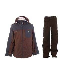 Burton Captain Tripps Jacket Mocha w/ Burton Ronin Cargo Pants Mocha