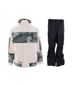 Burton Cosmic Delight Jacket Bright White w/ Burton Fife Pants True Black