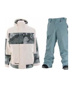 Burton Cosmic Delight Jacket Bright White w/ Special Blend Empire Pants Powday Blue