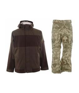 Burton Cosmic Delight Jacket Mocha w/ Burton Cargo Pants Mosaic Martini