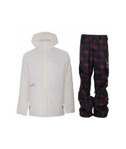 Burton Defender Jacket Bright White w/ Burton Poacher Pants True Black Native