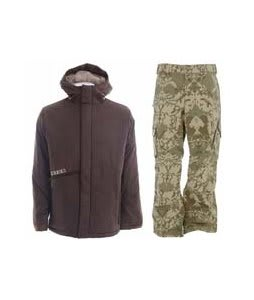 Burton Defender Jacket Mocha w/ Burton Cargo Pants Mosaic Martini