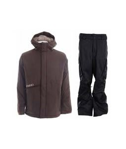 Burton Defender Jacket Mocha w/ Burton Fife Pants True Black