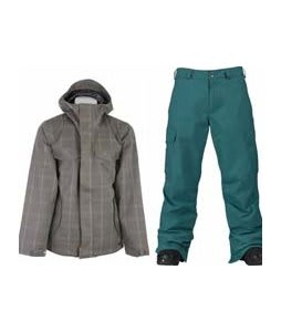 Burton Entourage Jacket Haze Ig Molin Plaid w/ Burton Cargo Pants Gmp Iroquois