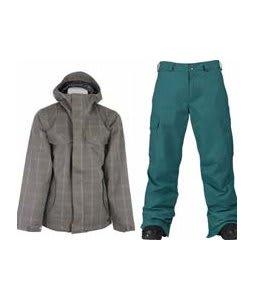 Burton Entourage Jacket Haze Ig Molin Plaid w/ Burton Cargo Pants Gmp Iroquois