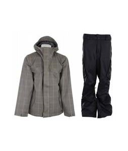 Burton Entourage Jacket Haze Ig Molin Plaid w/ Burton Fife Pants True Black