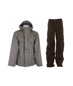 Burton Entourage Jacket Haze Ig Molin Plaid w/ Burton Ronin Cargo Pants Mocha