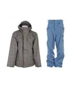 Burton Entourage Jacket Haze Ig Molin Plaid w/ Special Blend C3 Division Pants Memento