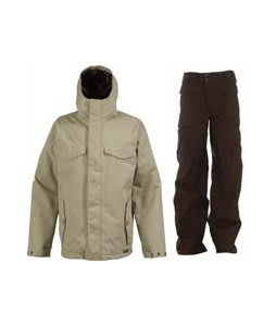Burton Entourage Jacket Sandstoner w/ Burton Ronin Cargo Pants Mocha